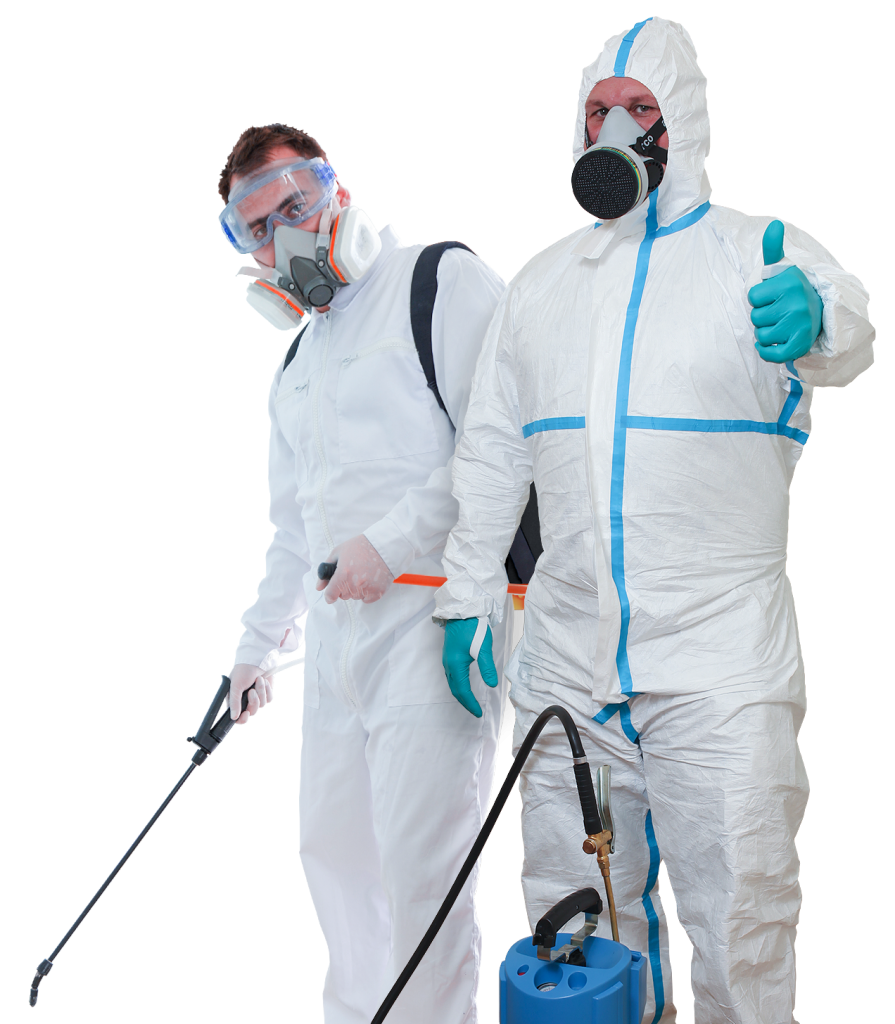 Commercial Services pest control Technicians in full PPE